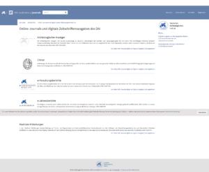 Screenshot iDAI.publications